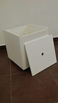 Cubo / baúl con ruedas / Melaminico