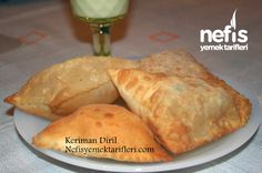 Puf Böreği-(phyllo dough filled with vegetables and diced meat) Pastry Recipes, Meat Recipes, Low Carb Recipes, Cooking Recipes, Drink Recipes, Greek Cooking, Exotic Food, Turkish Recipes, Food Facts