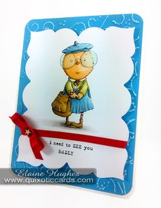 I Need To See You Badly! – Marker Geek #stampingbella #rubberstamps #stamping #cardmaking