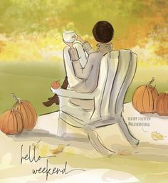 Bon Weekend, Hello Weekend, Autumn Painting, Autumn Art, Autumn Cozy, Coffee Art, Beau Message, Warm Apple Cider, Another Day In Paradise