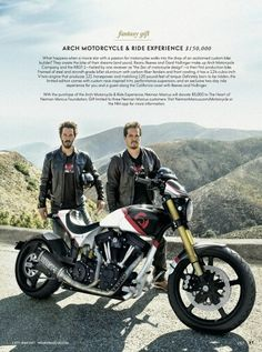 Keanu Reeves and Gard Hollinger