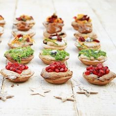 An original take on the humble mince pie recipe, with a variety of beautiful toppings to make them stand out [. Pie Tops, Mince Pies, Christmas Cooking, Winter Food, Bruschetta, Pie Recipes, Cheesecake, Eat, Ethnic Recipes