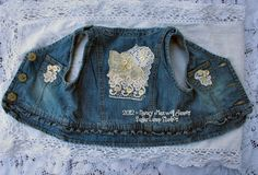 Altered Blue Jean UPCYCLED Vest with Vintage by sugarlumpstudios, $19.95