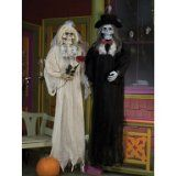 $&* Best Halloween costume  deal: Scary Skull Bride and Groom Halloween Porch Decoration - http://halloweencostumeideashere.com/best-halloween-costume-deal-scary-skull-bride-and-groom-halloween-porch-decoration/