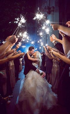 Sparkler exits are a popular wedding send off idea! Enjoy our top quality wedding sparklers on your wedding day for a perfect wedding exit! Sparklers on sale!