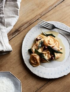 Julia Busuttil-Nishimura shares a classic handmade pasta dish. Ricotta Tortelloni with Butter, Sage and Hazelnuts