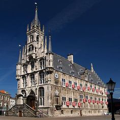 Gouda-Holland-Netherlands-Town-Hall 15th century gothic - oldest in Netherlands