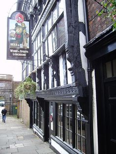 Bear & Billet Pub, Chester by [davidrobertsphotography], via Flickr. My old pub