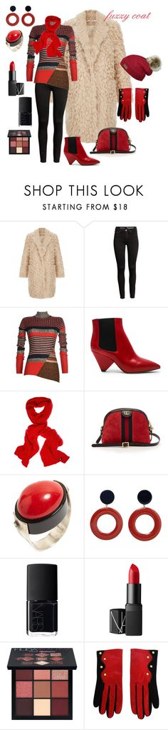"""wooly bear"" by debep ❤ liked on Polyvore featuring CÉLINE, Isabel Marant, Versace, Gucci, MANGO, NARS Cosmetics, Huda Beauty and Christian Lacroix"