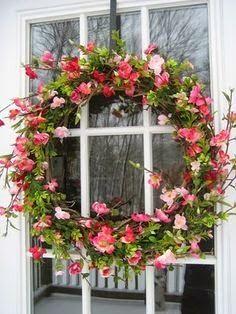Spring decor for room your home decoration Lovely Spring Door Wreath. Spring Door Wreaths, Summer Wreath, Wreaths For Front Door, Winter Wreaths, Holiday Wreaths, Wreath Crafts, Diy Wreath, Grapevine Wreath, Wreath Ideas