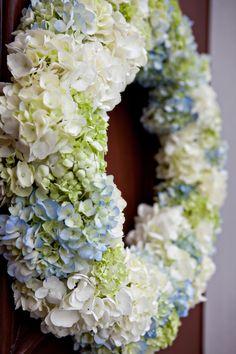 Hydrangea door wreath.