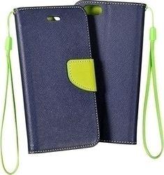 OEM Ultra Slim 0.3mm Book Case Is Fancy Blue Lime (Sony Xperia E5)
