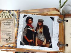 7 Gypsies Guest Book vintage style with postcards, ephemera, photos and more - perfect birthday gift -