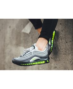af9d75a96052 Nike Air Max 97 Neon Trainer Grey Trainers