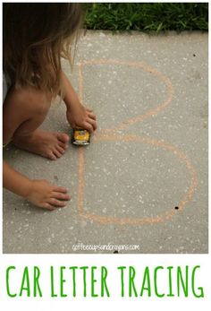 Letter Tracing Practice with Toy Cars is So Much Fun! A Great Way to Practice Letter Strokes.