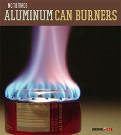 Homemade Aluminum Can Burners - DIY Survival Gear  | Survival Prepping Ideas, Survival Gear, Skills & Emergency Preparedness Tips - Survival Life Blog: survivallife.com #survivallife