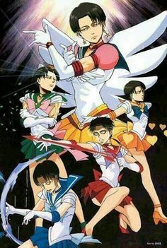 SNK Levi as the inner sailor senshi? Fighting Titans by moon light! there is something wrong with the Attack on Titan fandom!<<if you think the attack on Titan fandom is scary I strongly advise you to stay away from the hetalia fandom Attack On Titan Funny, Attack On Titan Anime, Funny Anime Pics, Anime Meme, Aot Gifs, Manga Anime, Eren E Levi, Aot Memes, Animes On