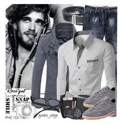 """Rosegal -  Style Shirt men"" by goreti ❤ liked on Polyvore featuring men's fashion, menswear, menstyle, rosegal and menswearessential"