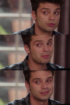 Sebastian you beautiful man <<< Oh my god that smirk though STOP HURTING ME