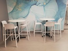This is our White Faro h75 Barstool.