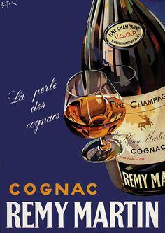 cognac Remy Martin, la perle des cognacs - 1948 - (Suter) -
