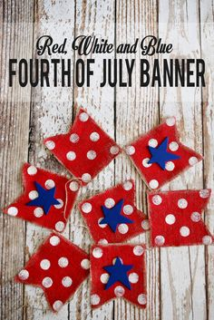 Red White and Blue 4th of July Banner