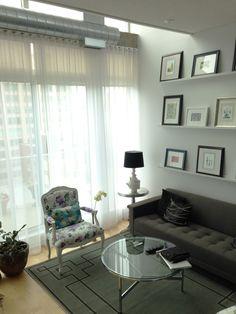 Interior design by Paula Velez Window Coverings, Window Treatments, Office Desk, Upholstery, Windows, Curtains, Interior Design, Furniture, Home Decor