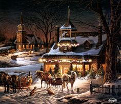 I will, some day, have a Currier & Ives Christmas.