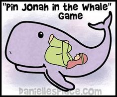 Pin Jonah in the Whale Bible Game for Sunday School www.daniellesplace.com: in addition to this game there is an adorable idea using a milk jug :)