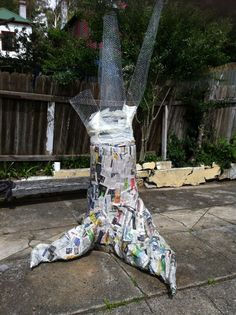 "I know, it's something you've been wondering for a long time... ""Just how am I going to make that paper mache tree??"" Well fear not... ..."
