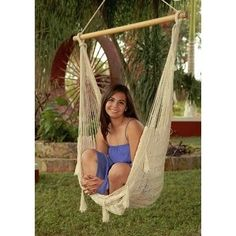 Sunnydaze Mayan Hammock Chair with Wood Spreader Bar (Chair Only - x-large - Multi-Color), Patio Furniture (Cotton Blend)