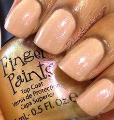#Fingerpaints Sparkle Top Coat over @nailsbybarielle Kiss Me Kate