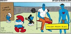 Brevity on Gocomics.com; Dr. Manhattan, Smurfs, Avatar