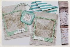 Stamped Fabric Mini Bags