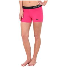 Nike Pro Three-Inch Short Women's Shorts ($28) ❤ liked on Polyvore featuring activewear, activewear shorts, logo sportswear, nike sportswear, nike and nike activewear