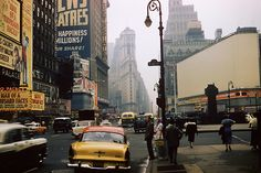 rogerwilkerson:    47th Street - New York - 1957 - photograph by André Robé