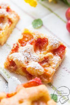 Obstkuchen mit Mirabellen vom Blech