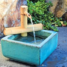 Bamboo Accents Water Fountain Spout Complete Kit includes Submersible Pump for Easy Install Handmade IndoorOutdoor Natural SplitFree Bamboo Adjustable Height Small  7 Inches * For more information, visit image link. Note: It's an affiliate link to Amazon