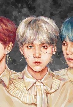 Bts wallpaper suga art 53 new Ideas Bts Chibi, Bts Vampire, Bangtan V, Fanart Bts, Kpop Drawings, Fanarts Anime, Fan Art, Bts Fans, K Pop