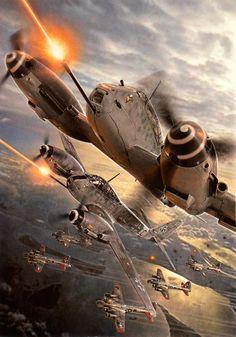 Messerschmitt Me 410 vs. B-17 Flying Fortress.                                                                                                                                                     Más