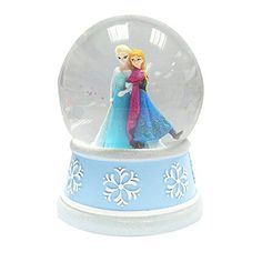 "super cute Disney anna and elsa waterglobe snowglobe will be sure to melt her heart! Plays ""let it go"""