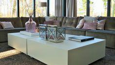 Kubus salontafels in fris wit