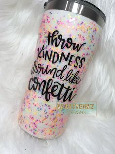 Epoxy Tumbler Confetti Glitter Tumbler Cup Stainless Steel