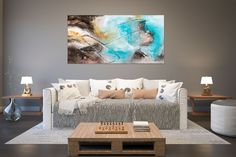 Items similar to Large Modern Wall Art Painting,Large Abstract wall art,texture art painting,colorful abstract,office wall art on Etsy Large Abstract Wall Art, Colorful Wall Art, Modern Wall Art, Modern Oil Painting, Large Painting, Painting Art, Bright Paintings, Abstract Paintings, Bedroom Paintings