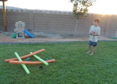 5 Summer Activities with Pool Noodles - The Joys of Boys