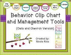 This download includes: 1)materials for Owls & Chevron Behavior Clip Chart (including directions, and editable files) 2) materials for Owls & Chevron Behavior Card Chart (including directions, and editable files) 3) behavior tracking tools 4)parent communication tools and 5) student incentives and management tips.