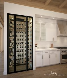 The Wine Square creates luxury custom wine cellars providing the optimal care environment and the highest level of protection for your collection. Wine Cellar Modern, Glass Wine Cellar, Home Wine Cellars, Wine Cellar Design, Wine Rack Cabinet, Wine Rack Wall, Wine Wall, Wine Cellar Innovations, Wine Cellar Basement