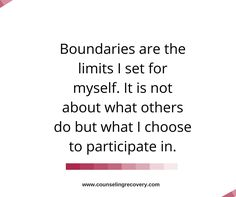Setting boundaries is more about YOU and less about what you want others to do! It's choosing what you do and letting someone else choose for themselves.