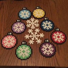 Christmas ornaments hama beads by jritaalm