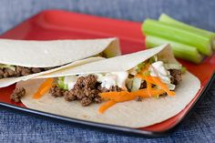 Buffalo-Style Beef Tacos - Taste and Tell
